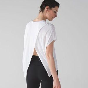 Lululemon Devout Short Sleeve Open Back Tee